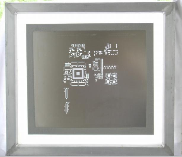 Laser-cut stencil--Framed